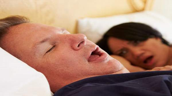Picture of man with sleep apnea