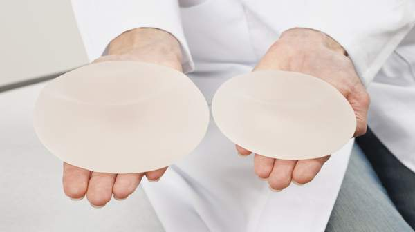 Picture of breast implants
